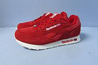 Кроссовки Reebok красные 672-41 натур замш код 0756А