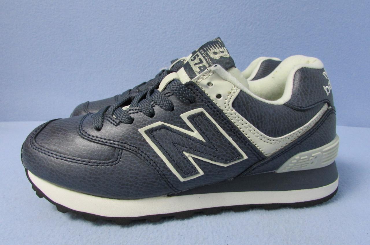 6e2d9a1d Кроссовки New Balance 574 синие натур.кожа (1003-767) код 0746А ...