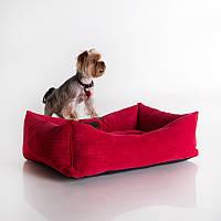 Dog Fancy Red - Причудливый (мягкий вельветовый лежак для собак)