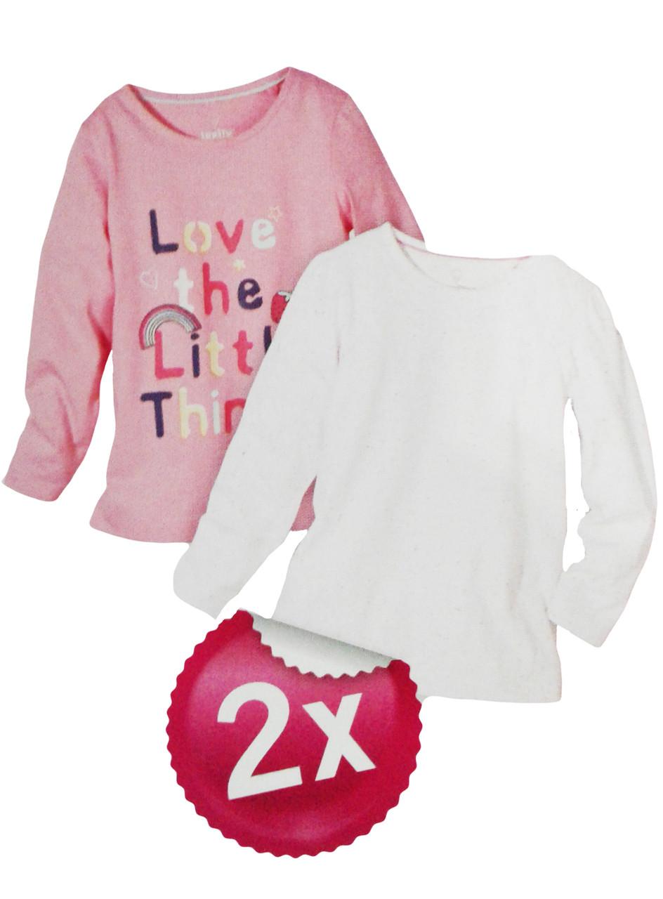 Реглан для девочки, ( 2 шт. в упаковке), размеры 98/104, Lupilu, арт. Л-389