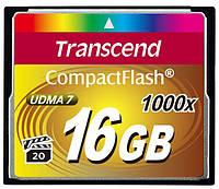 Карта памяти Transcend Compact Flash 16 GB (1000X) (TS16GCF1000)
