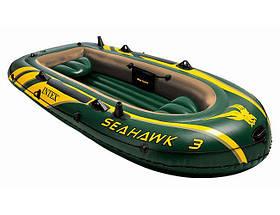 Надувная лодка Intex 68349 Seahawk 3 Set