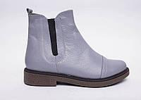 Ботинки № 409-11 серая кожа, фото 1