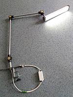 LED світильник верстатний SVS 5 Вт/5700 K (шарнірний, на струбцині)