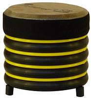 Барабан из натуральной кожи (16 × 17 см), желтый, Trommus (A1u)
