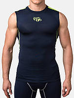 Компрессионная футболка без рукавов Peresvit Air Motion Compression Tank Navy Flu Yellow