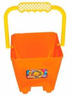 Ведро для песка Замок (оранжевое), Wader (39021-5)