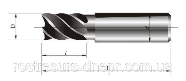 Фреза концевая ц/х ф 14 мм z=5 удлиненная Lраб=40мм
