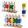 Деревянная игрушка Кубики и цилиндры в коробке