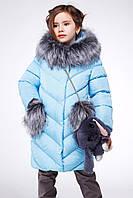 Зимняя курточка голубого цвета