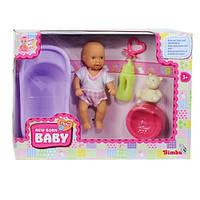 Пупс, 12 см, с ванночкой и аксессуарами, New Born Baby (503 9806-2)