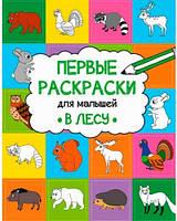 В лесу, первые раскраски для малышей (русский язык), Виват (9786176908104)