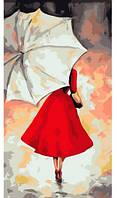 Под белым зонтиком, Серия Люди, рисование по номерам, 27 × 50 см, Идейка (КН2654)