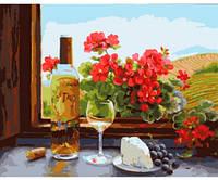 Французский полдень, Серия Сельский пейзаж, рисование по номерам, 40 × 50 см, Идейка (КН2205)