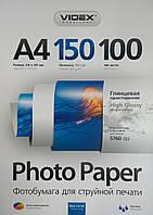 Фотобумага Videx HGA4 150/100 глянцевая