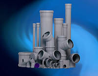 Трубы ПВХ для внутренней канализации 110х1,8х1000