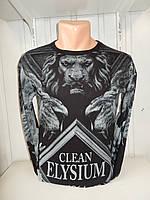 Футболка длинный рукав  lexsus, лев 002/ купить футболку  оптом, со склада