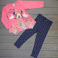 Детский комплект туника и лосины для девочек оптом р.104-110