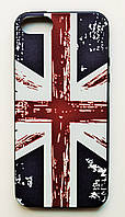 Чехол на Айфон 5/5s/SE Glossy side Силикон Флаг Великобритании
