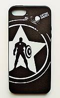 Чехол на Айфон 5/5s/SE Glossy side Силикон Капитан Америка, фото 1