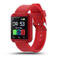 Умные часы Uwatch U8 красный Bluetooth Smart Android/IOS в коробке