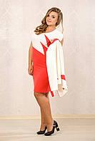 Коралловое платье 065 с жакетом 066
