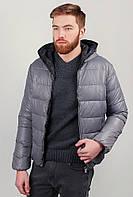Куртка мужская теплая на синтепоне, с капюшоном AG-0002568 Серый
