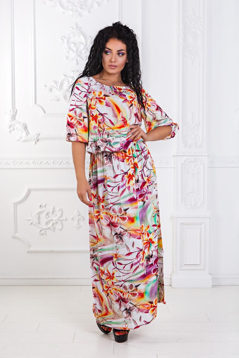 ДТ4013 Платье в пол  размеры 50-56