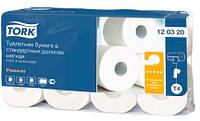 Tork туалетная бумага в стандартных рулонах, мягкая, 2-х слойная,  100% целлюлоза, 23м, 184 листов, белизна 86