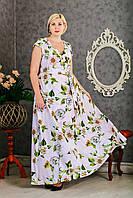Длинное летнее платье в пол, размер 50 52