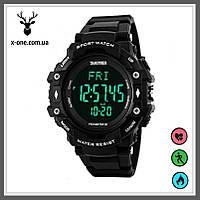 Спортивные часы Skmei 1180 Black c Шагомером и Пульсометром., фото 1