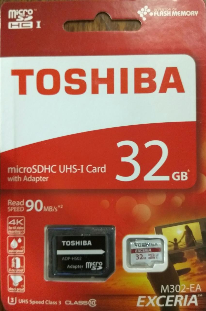Карта памяти Toshiba микро SDHC UHS-1  32 гб класс10 с адаптером
