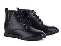 Модные демисезонные женские ботинки на танкетке от производителя Бабочка 177-14 (6 пар,36-41)