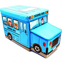 """Короб-пуфик для игрушек """"Веселый автобус"""""""