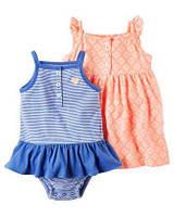"""Комплект из 3 предметов песочник, платье и трусы """"Оранжевое солнышко"""" Carters"""