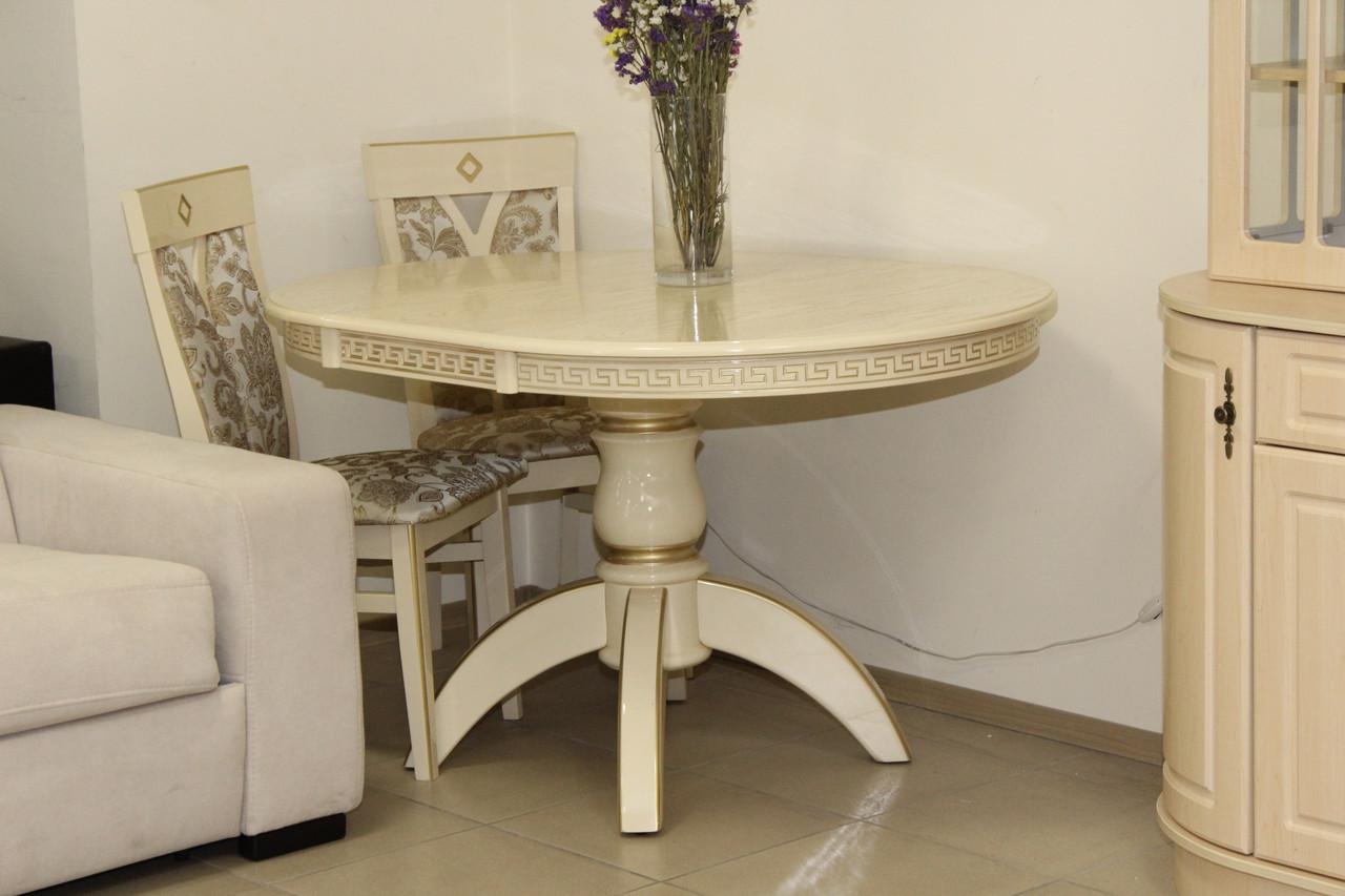 Стол обеденный деревянный с патиной