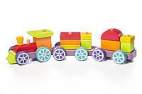 Дерев'яна іграшка Левеня Cubika Поїзд Райдужний експрес LP-3 (12923)