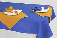Льняной столовый комплект на 6 персон (скатерть 150 на 200 см)