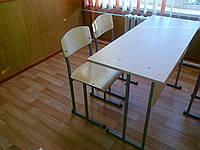 Комплект школьной мебели 2-х местный (стол + 2 стула)