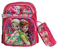 Ранец ортопедический Эльза + пенал для девочек. Рюкзак, портфель ортопедический для школы 3, 4 класс
