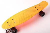 FISH Скейт Скейтборд ORIGINAL 22 PENNY Оранжевый. Колеса черные