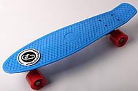 FISH Скейт Скейтборд ORIGINAL 22 PENNY Голубой, Колеса красные
