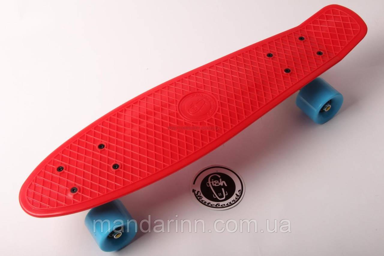 FISH Скейт Скейтборд ORIGINAL 22 PENNY Красный