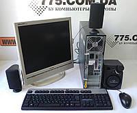 """Системный блок + 17"""" монитор +клавиатура, мышь + колонки, фото 1"""