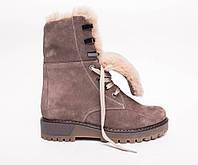 Ботинки №412-4 песочный замш, фото 1
