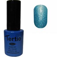 Гель-лак Tertio №165 Темно-лазурный с блестками 10 мл