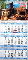 Квартальный календарь с окошком на 2018 Год Собаки