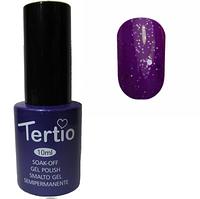 Гель-лак Tertio №170 Фиолетово-сиреневый с блестками  10 мл