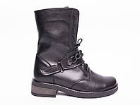 Ботинки №413-1 черная кожа (брук), фото 1