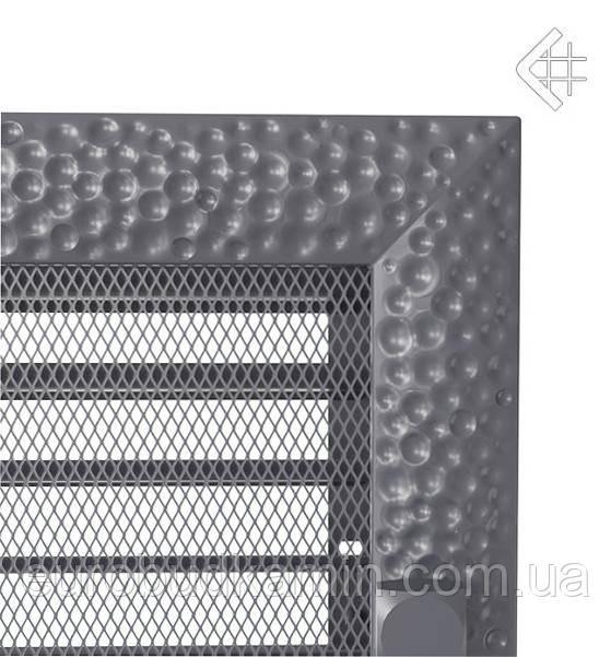 Вентиляционная решетка KRATKI VENUS 22х30 СМ графитовая с жалюзи